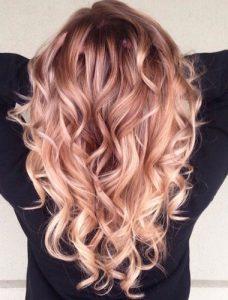 Rose gold hair colour - Autumn hair