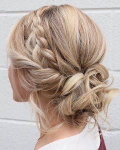 Braided bun - braided updo ideas