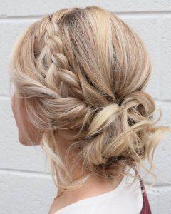 Braided bun - braided updo ideas
